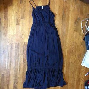 Navy spaghetti strap maxi dress